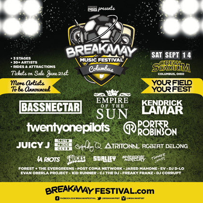 Breakaway Music Festival kicks off Sept. 14. Tickets go on sale next week