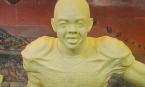 For some reason, Cincinnati Bengals safety Chinedum Ndukwehas gotten the butter sculpture treatment at the State Fair, while Superman, Jerry Siegel and Joe Shuster have all been denied.