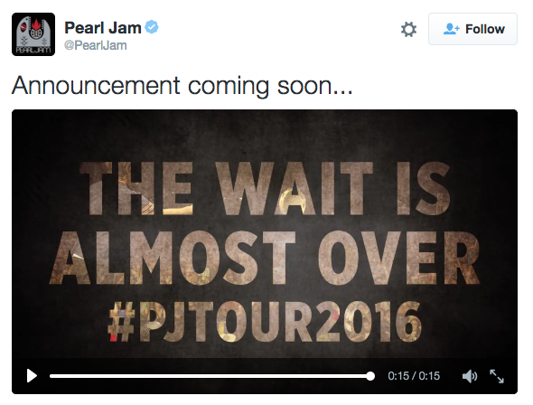 Is Pearl Jam coming to Columbus?