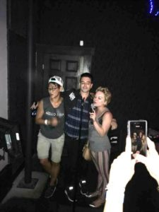 Chris Carrabba and Lydia Loveless singing karaoke
